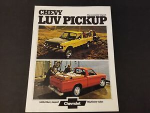 Details about 1974 Chevrolet Chevy Luv Pickup Brochure Small Pickup Truck  Photos And Specs