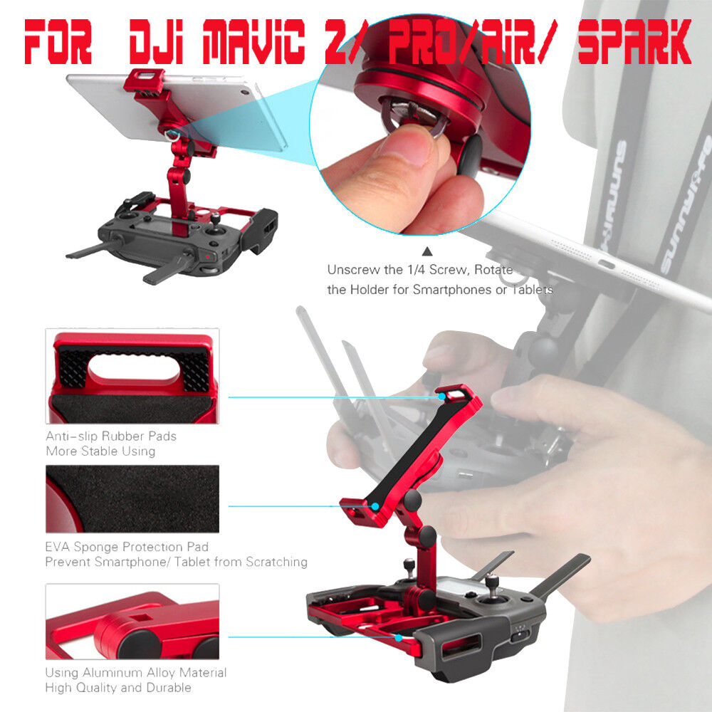 Phone Tablet Monitor Holder Stand Mount Clip For  DJI Mavic 2  Pro Air  Spark UK