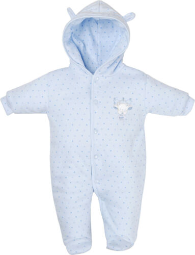 Premature//Tiny Baby All in One Dandelion Tiny Bear Hooded Cotton Pram Suit