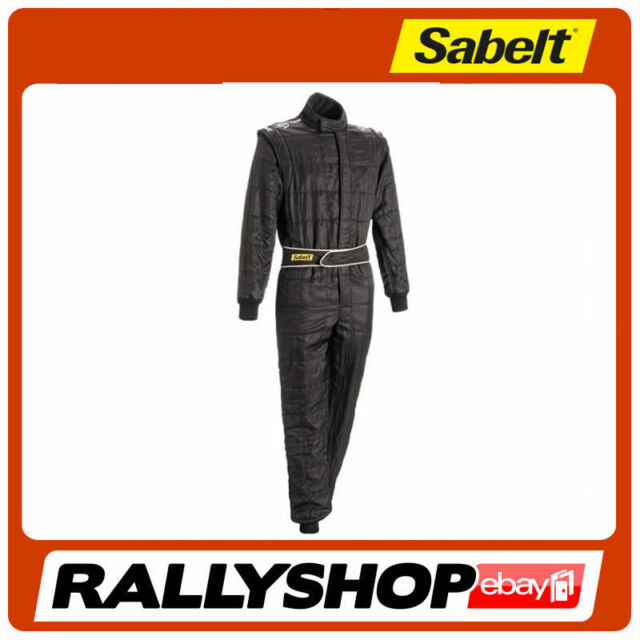 625132320717 FIA Sabelt Elettra Ti-300 Suit Size 66 Black Race Rally Fireproof 3 ...