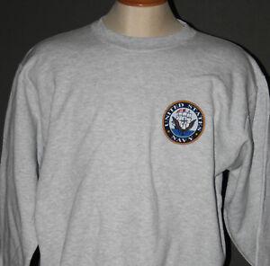 NAVY Crewneck Sweatshirt in Gray