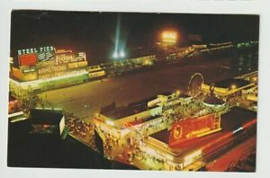 1968-Postmarked-Postcard-Night-View-of-exciting-Atlantic-City-New-Jersey-NJ