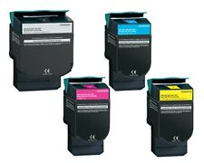 4 HY Color Toner Cartridges for Lexmark C540 dw C540 n C543 dn C544 dn C544 dtn