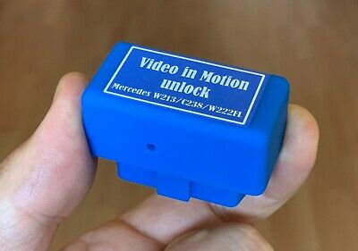 E-class W213 NTG5.5 Video in Motion TV Free OBD2 VIM Activator For Mercedes Benz