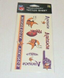 NFL-MINNESOTA-VIKINGS-TEMPORARY-TATTOOS-1-SHEET-7-TATTOOS-FAST-FREE-SHIPPING