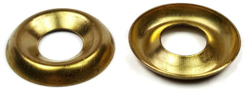 """Sizes #4 To 3//8/"""" Cup Washers Brass Finishing Cup Washers"""