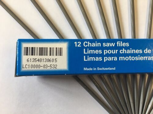 "12 VALLORBE ROUND CHAINSAW FILES 5//32 4MM FOR 3//8/""LP CHAIN FOR STIHL MS200T"