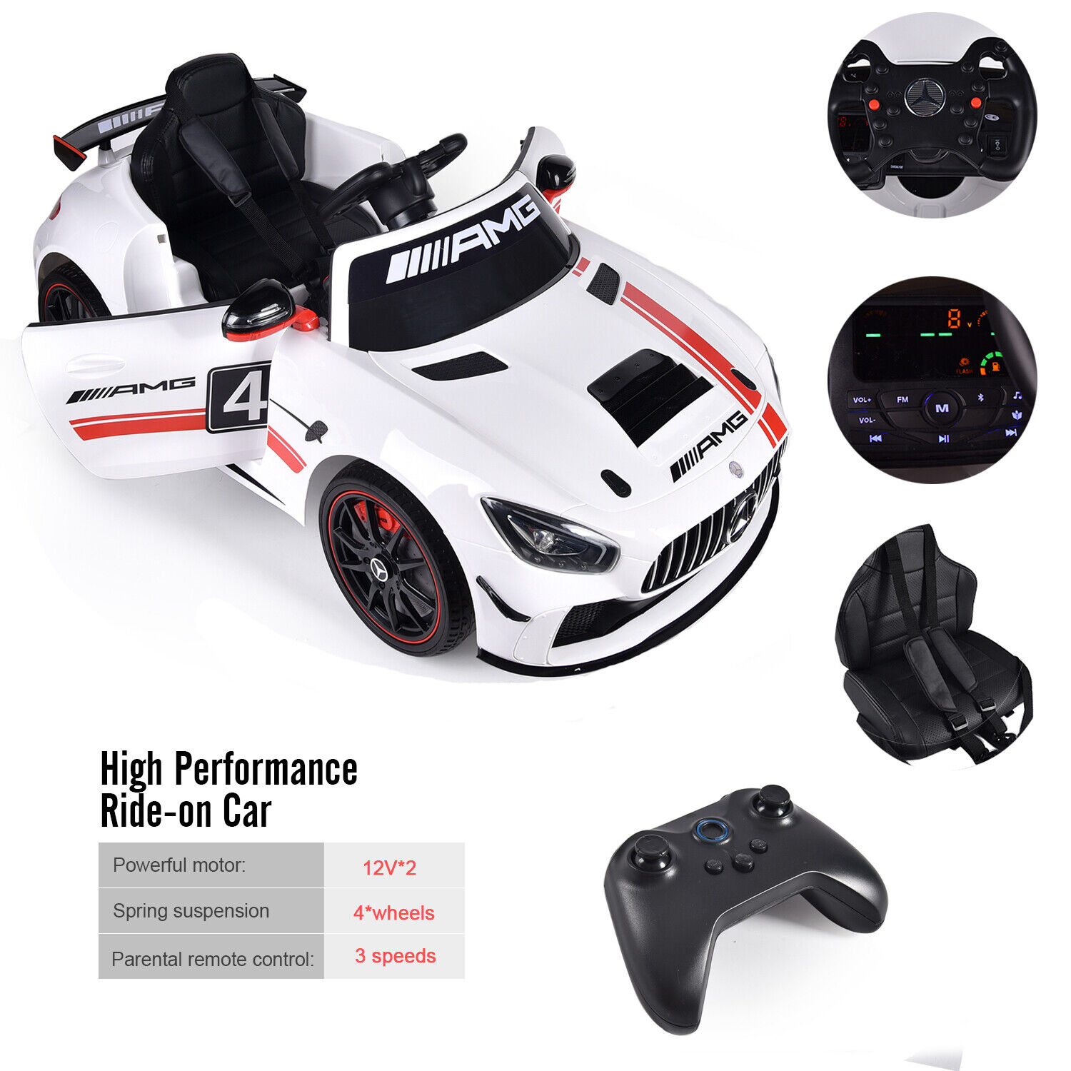 12v mercedes amg g65 ride on electric power car for kids wheel with remote c for sale online ebay ebay