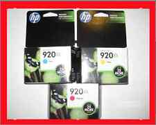 *NEW Genuine HP 920XL Cyan Magenta Yellow Color Ink Cartridges Combo 3-Pack 6500
