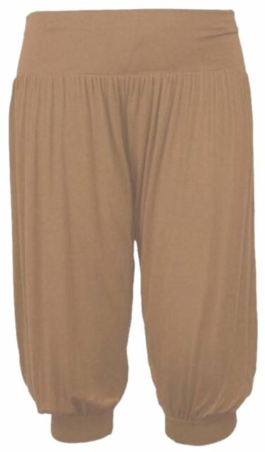 Women/'s Ladies Ali Baba Hareem Stretch  Baggy Pants Legging Trousers 8-26