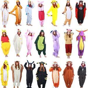 370305dd3a30 Image is loading Animal-Adult-Cosplay-Pajamas-Kigurumi-One-Piece-Sleepwear-