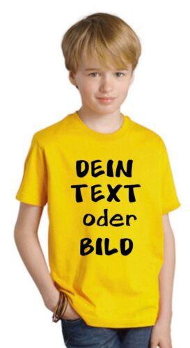 Logo T-Shirt Druck nach Wunsch GJF10 Kinder T-Shirt mit Wunschtext Grafik