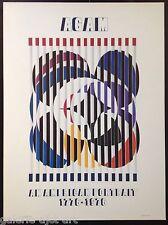 AGAM Yaakov (1928) Grande Affiche Offset de 1976 (Dimension:73x54cm) Cinétique