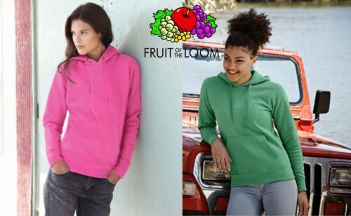 5 pieces WOMEN's sweatshirt hood FRUIT OF THE LOOM various colours tshirt women