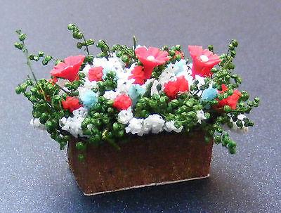 1:12 Scale Mixed Flowers In A Window Box Dolls House Miniature Flower Garden SR