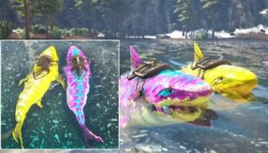 Ark Survival Evolved Xbox One PvE Color Mutated Megalodon Breeding Pair 202-224
