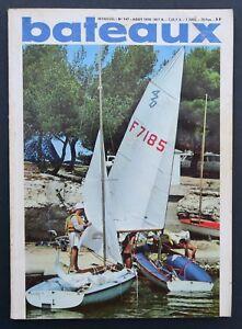 Revue-magazine-BATEAUX-n-147-aout-1970-Optimist-Port-Cervo