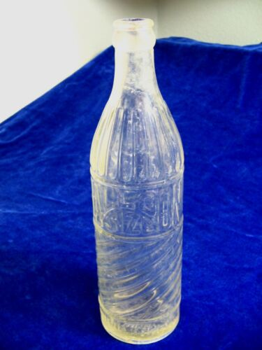 Antique Alamo Bottling Works Balloon Size Clear Glass Soda Bottle 15 Ounces Rare