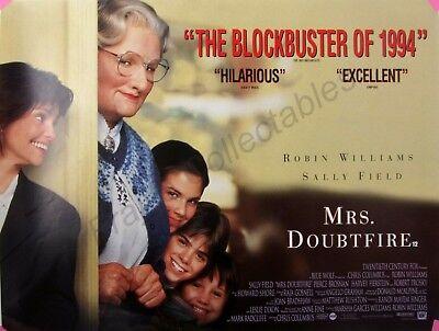 Mrs Doubtfire 1993 Original Uk Mini Cinema Movie Poster 12 X16 Robin Williams Ebay