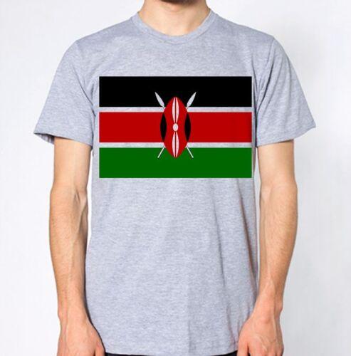 Kenya New T-Shirt Country Flag Top City Map