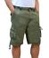 Bermuda-Uomo-Cargo-Pantalone-corto-Tasconi-Laterali-Shorts-Cotone-Nero-Verde miniatura 2