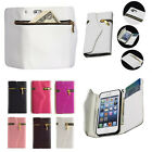 Chic Zipper PU Leather Wallet Flip Hard Case Cover Card Holder For iPhone 4 4s A