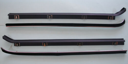 TOYOTA LAND CRUISER FJ40 BJ40 HJ45 FRONT DOOR GLASS WEATHERSTRIP INNER OUTER SET