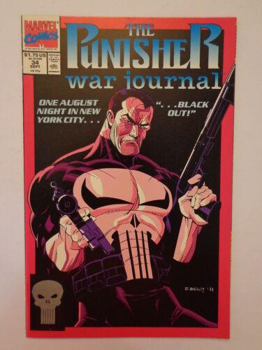 The Punisher War Journal Black Out New York Vol 1 #34 Marvel September 1991 NM