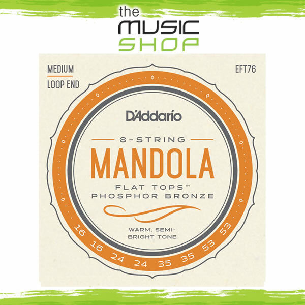 Set of D'Addario Flat Tops Mandola Strings - Medium - 16-53 - EFT76