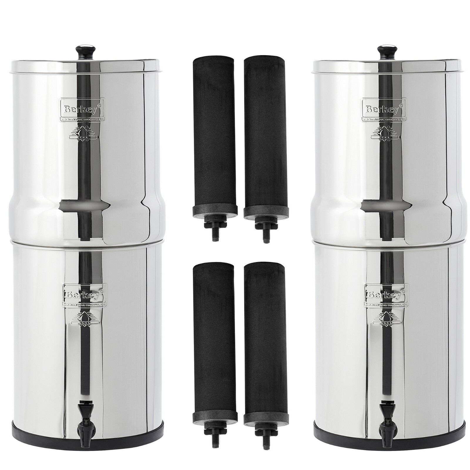 Two Imperial Berkey Water Filter Systems Bundle - 5% OFF