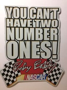 Details about Nascar Talladega Nights Magnet Ricky Bobby Quote You Can\'t  Have Two Number Ones!