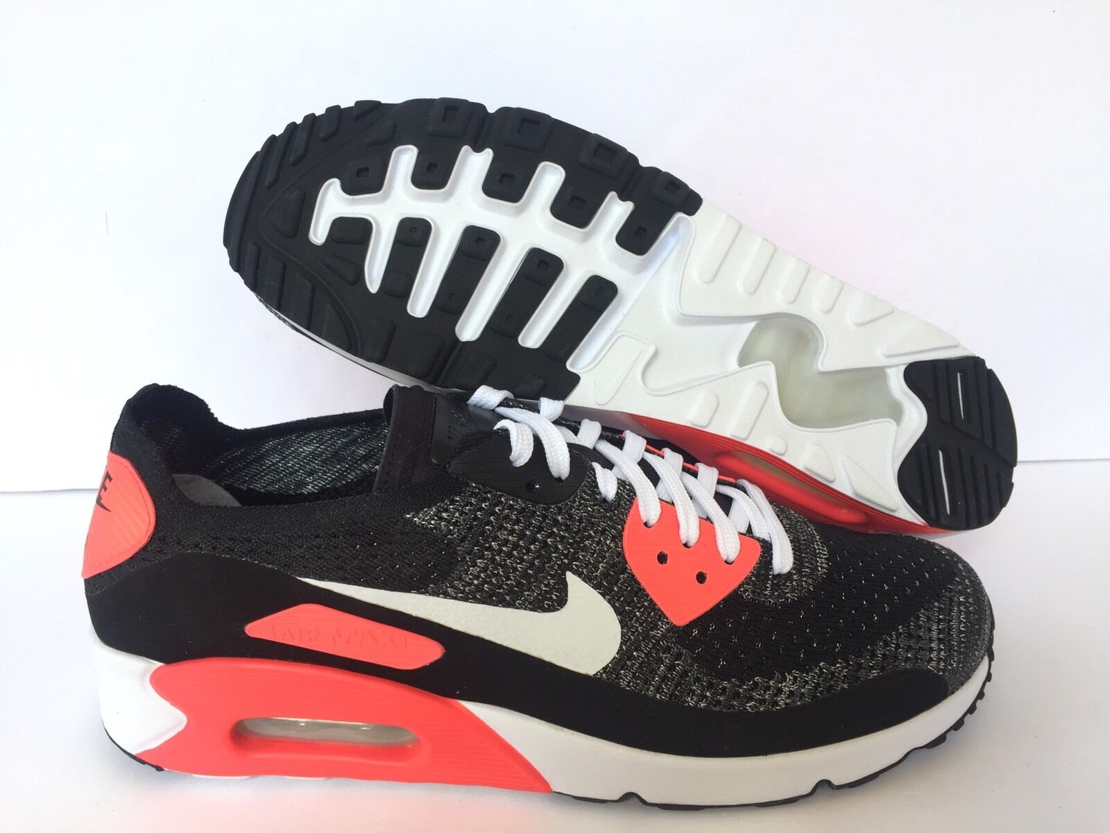 NIKEiD AIR MAX  BLACK/SOLAR RED BRAND NEW Price reduction US MEN Price reduction Seasonal price cuts, discount benefits