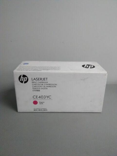 HP CE403YC (507A) Magenta Toner LaserJet M551 M570 M575 New Genuine Sealed