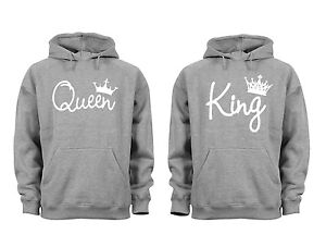 c0018dba20 Image is loading Couples-Matching-Hoodies-King-Queen-Matching-Couple-soft-