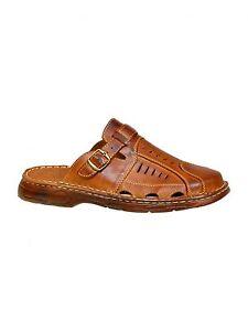 Nuevo-Hombres-Buffalo-genuino-cuero-zapatos-mula-Resbalon-En-Sandalias-Tamanos-Reino-Unido-7-8-9-10