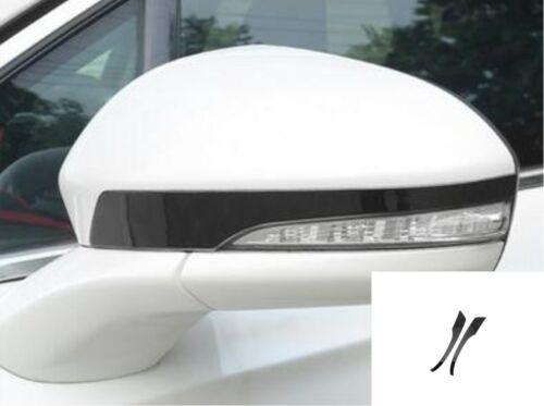 Black Rearview Mirror Strip Decorative Trim For Ford Fusion Mondeo 2013-2019