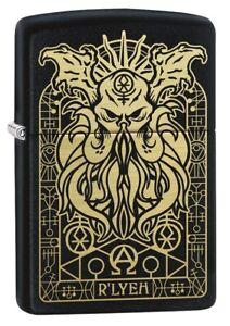 Zippo-Monster-Design-Black-Matte-Windproof-Pocket-Lighter-29965