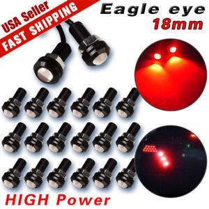 20X-Motor-Car-Eagle-Eye-Light-DRL-9W-LED-Red-18MM-Bolt-On-Screw-Backup-Light-Fog