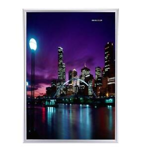 A1-Premium-Aluminum-Snap-Clip-Poster-Frame-Sign-Holder-Wall-Mount-Silver-AU-Ship