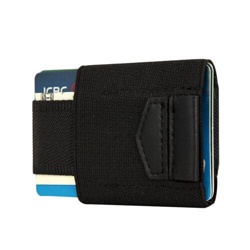 Front Pocket Minimalist EDC Slim Wallet 15 Card Holders for Men Cash Coins KeysH