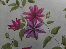 """Sanderson per tende in Tessuto """"Wisley"""" Magenta/Lino 1.5 metri (150cm) misto lino"""