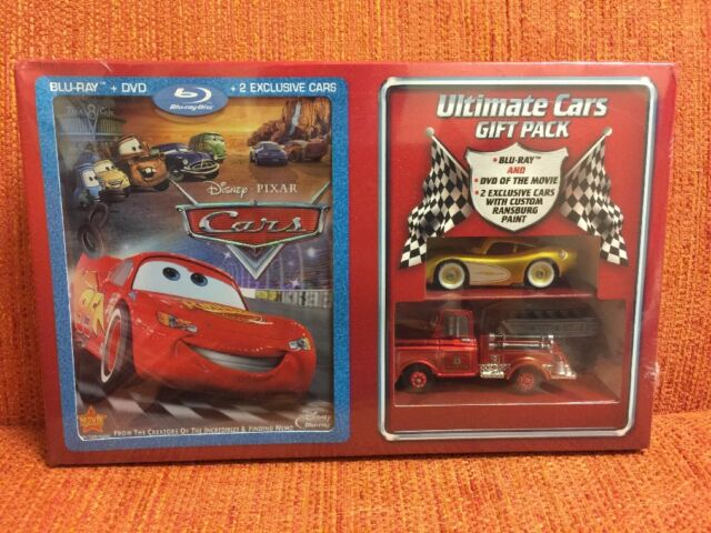 CARS ULTIMATE GIFT PACK BLU-RAY W/2 EXCLUSIVE RANSBURG PAINT CARS NEW SEALED