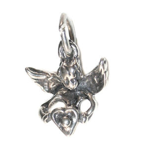STERLING-SILVER-CHARM-Love-Cupid-ANGEL-amp-HEART
