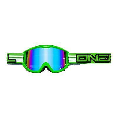 Bene Oneal B1 Rl Goggle Verde Occhiali A Specchio Moto Cross Dh Mx Mtb Mountain Bike Fr- Garanzia Al 100%