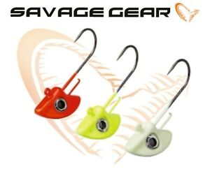 Savage-Gear-3Pcs-Tetes-Plombees-3-0-Stand-Up-28g-Fluo-Couleurs-Predator-Leurre