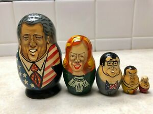 PRESIDENT-BILL-CLINTON-RUSSIAN-NESTING-DOLL