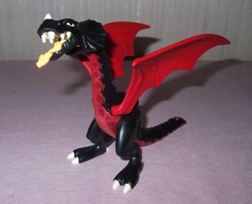 Nero medio grande drago Rosso favola-animali 42441