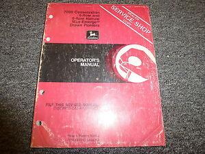 John Deere 7000 Conservation 4 6 Row Planter Owner Operator Manual