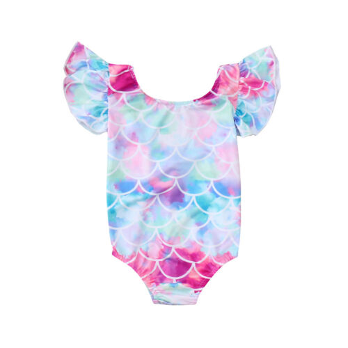 Fashion Popular Infant Kids Baby Girls Backless Swimsuits Swimwear Bathing Suits