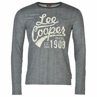 T-Shirt Manches Longues Homme LEE COOPER (Du S au XXL) (Taille Grand) Neuf